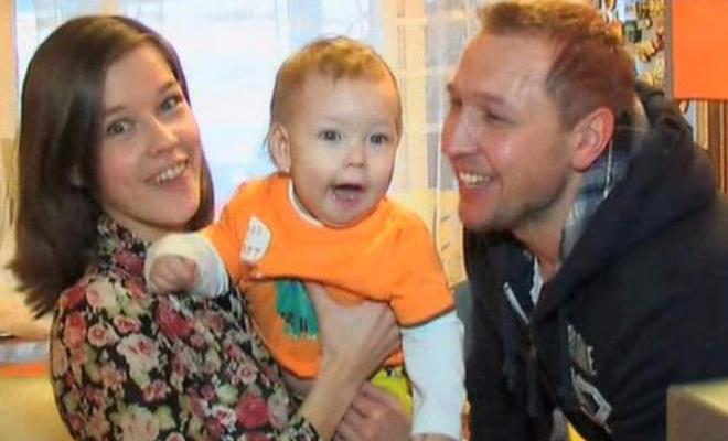 Екатерина Шпица с первым мужем Константином Адаевым и сыном