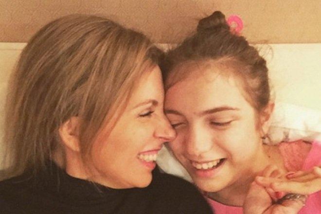 Светлана Бондарчук с дочерью