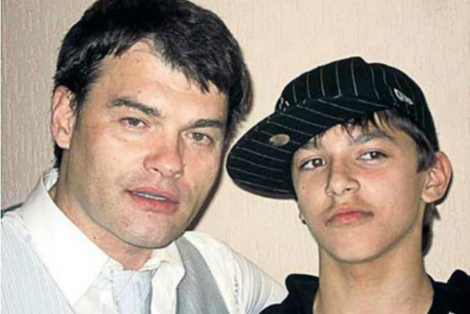 Евгений Дятлов с сыном Федором