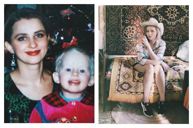 Александра Бортич в детстве и юности