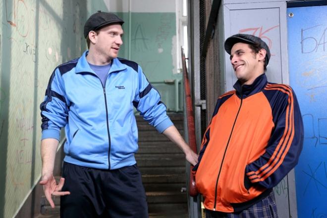 """Андрей Бурковский (слева) в роли """"Ржавого"""""""