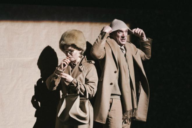 Андрей Бурковский и Юлия Пересильд на сцене