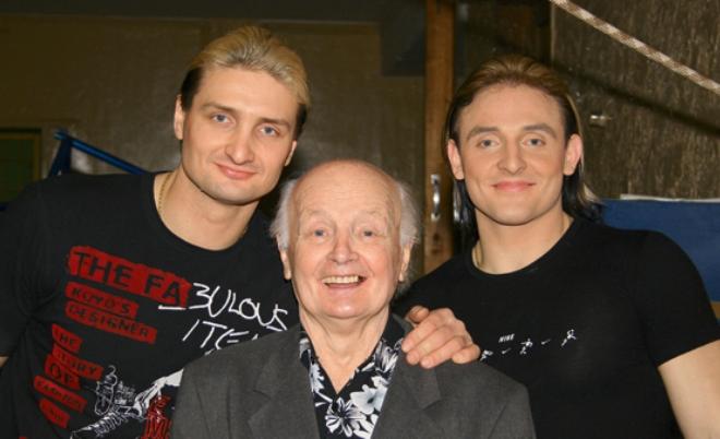 Аскольд Запашный с отцом и братом