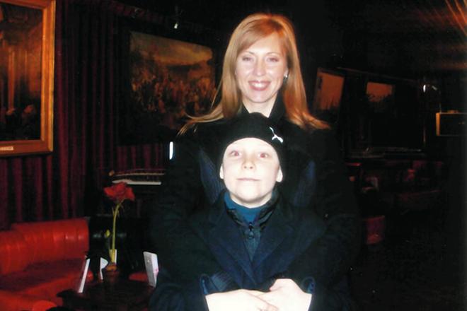 Наталья Сенчукова с сыном
