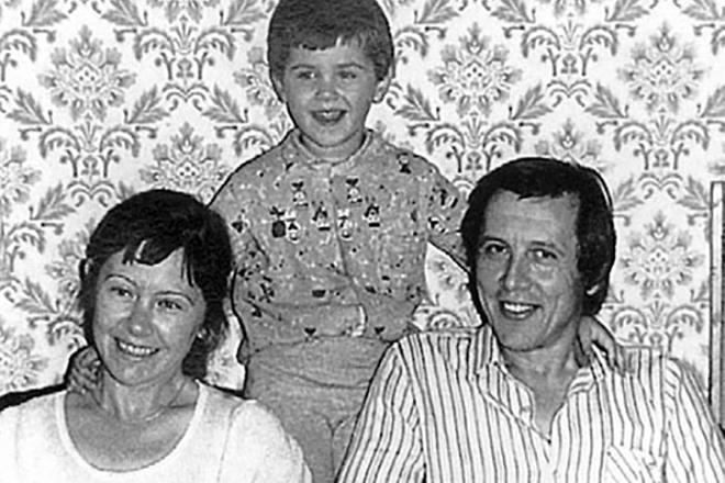 Валерий Золотухин и его вторая жена Тамара с сыном