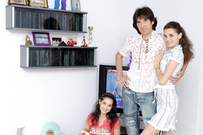 Кай Метов с Ольгой Филимонцевой и дочерью Кристиной