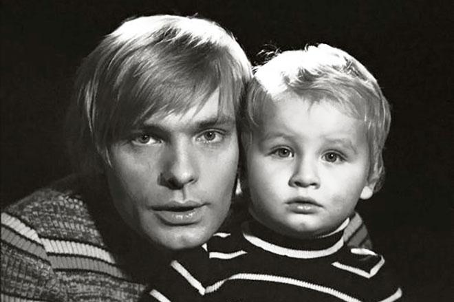 Олег Видов с сыном Алешей