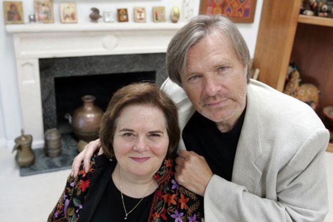 Олег Видов с женой Джоан Борстен