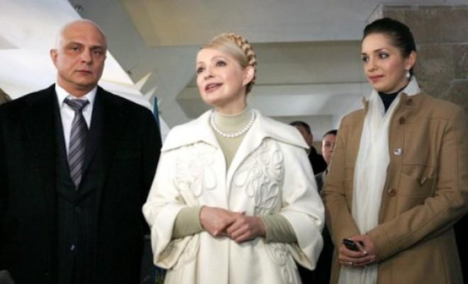 Юлия Тимошенко с мужем и дочерью Евгенией