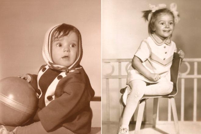 Анастасия Мельникова в детстве
