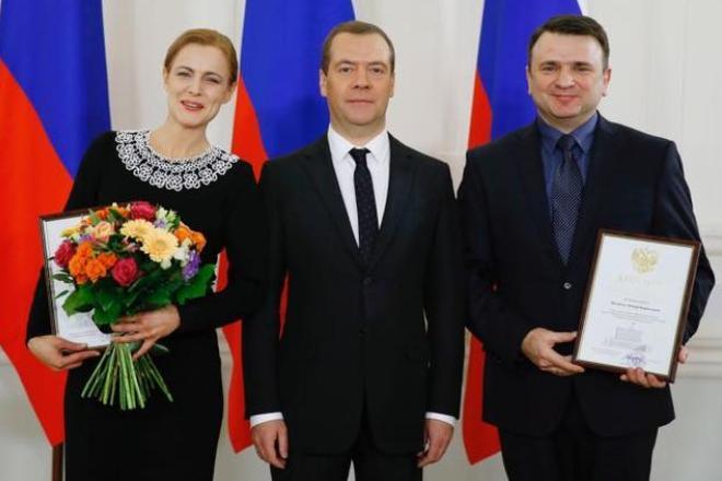 Дмитрий Медведев и супруги Тимур и Елена Кизяковы