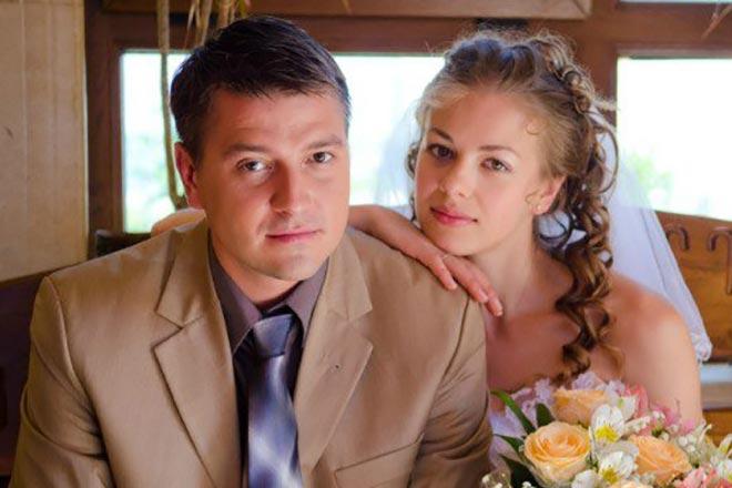 Олеся Фаттахова с мужем