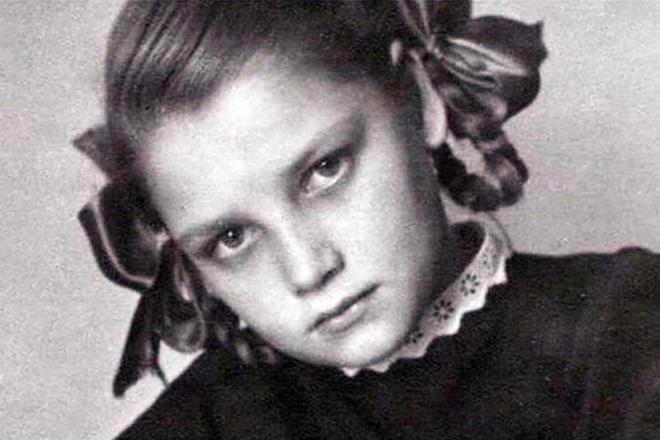 Наталья Кустинская в детстве