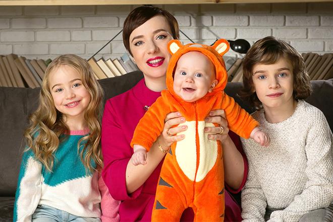Тутта Ларсен с детьми: фотосессия для журнала «АиФ про здоровье»