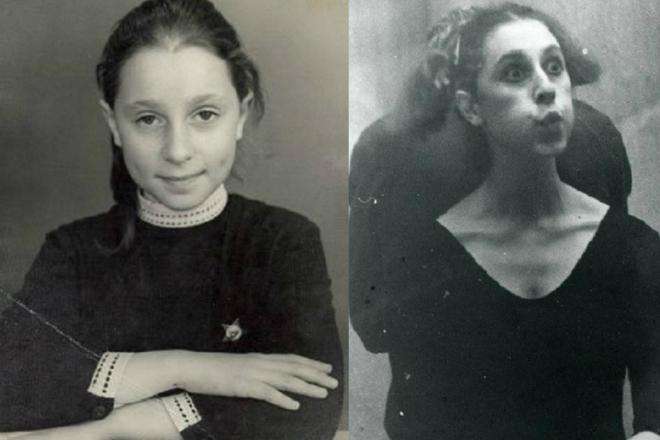 Юлия Рутберг в детстве и юности