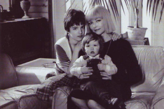 Барбара Брыльска с детьми
