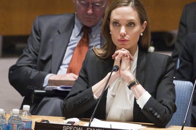 Анджелина Джоли на заседании ООН