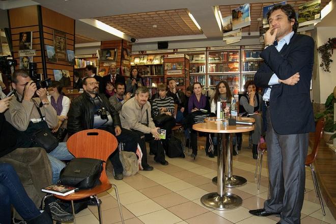 Отар Кушанашвили на презентации книги «Я. Книга - месть»