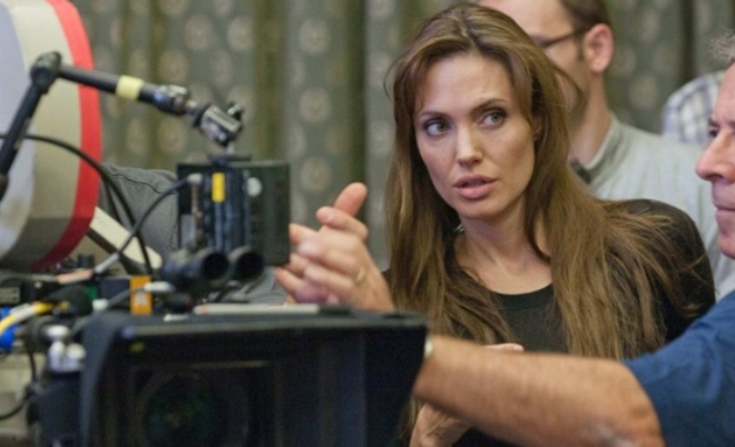 Анджелина Джоли на съемочной площадке