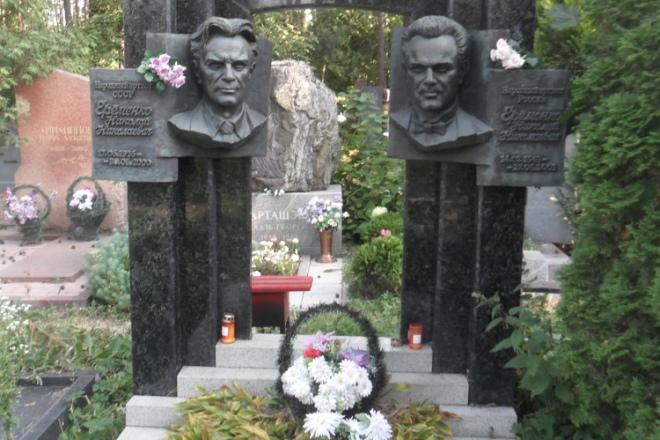 Могила Николая Ерёменко-старшего и Николая Ерёменко-младшего