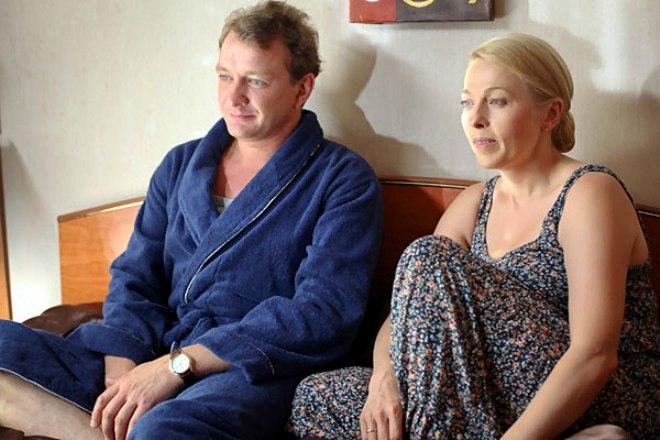 Марат Башаров и Анна Легчилова на съемках фильма «Измена»