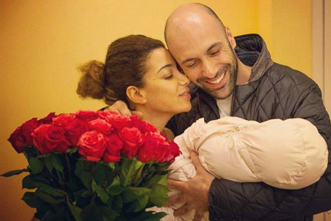 Евгений Папунаишвили с женой и дочерью