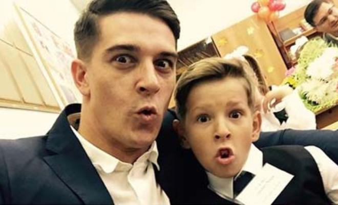 Станислав Бондаренко с сыном Марком