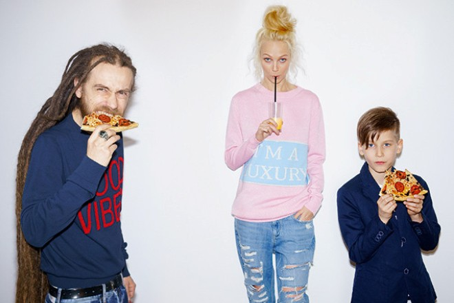Децл с женой и сыном