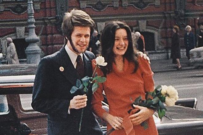 Борис Гребенщиков с первой женой Натальей Козловской