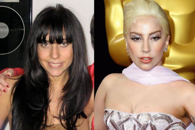 Леди Гага в молодости и сейчас