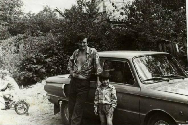 Денис Матросов с отцом