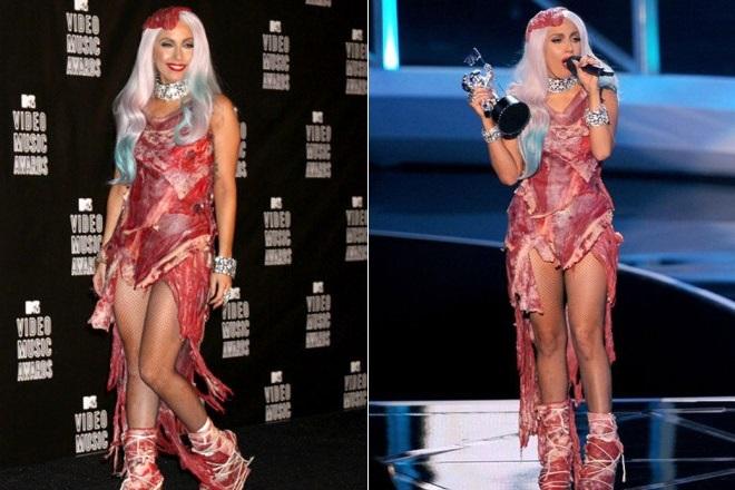 Леди Гага в «Мясном платье»