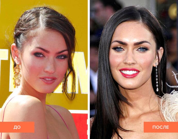 Фото до и после Меган Фокс
