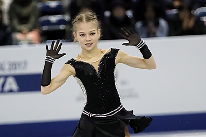 Александра Трусова в 2018 году