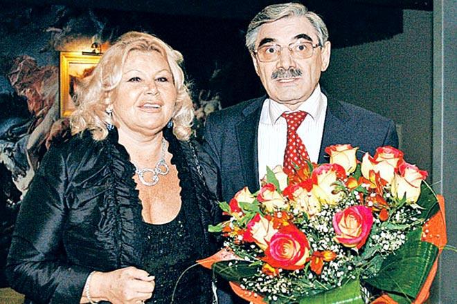 Александр Панкратов-Черный с женой Юлией Монаховой