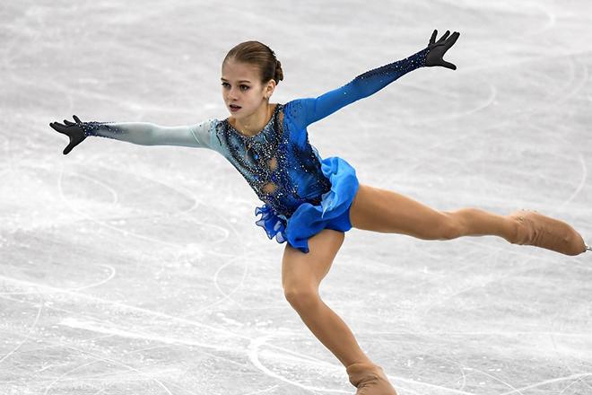 Александра Трусова на льду