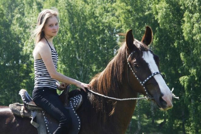 Юлия Липницкая на лошади