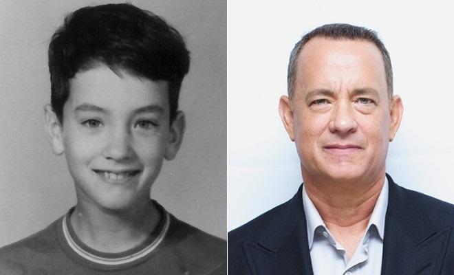 Том Хэнкс в детстве и сейчас