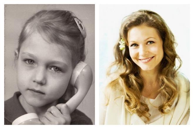 Эльвира Болгова в детстве и молодости