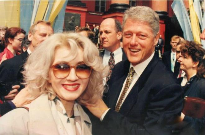 Ирина Билык и Билл Клинтон