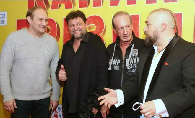Александр Самойленко с актерами фильма «Каникулы президента»