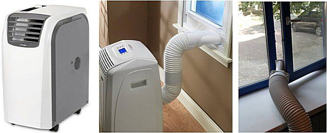 Хотя кондиционер и является мобильным, он все равно «привязан» к окну или к специально подготовленному каналу для выхода горячего воздуха