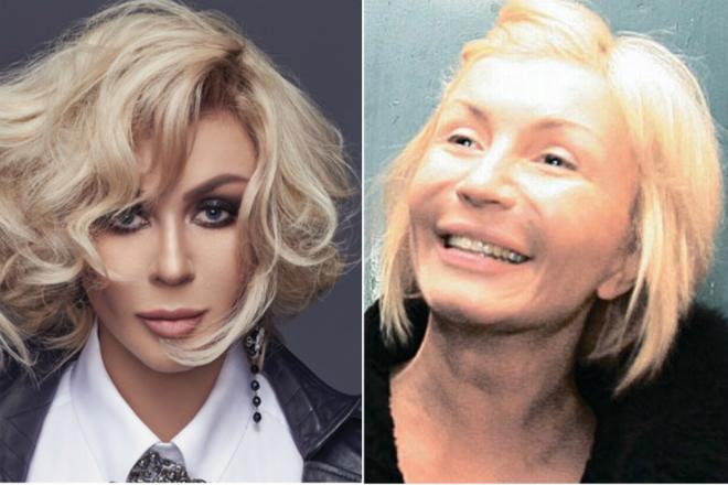 Ирина Билык с макияжем и без