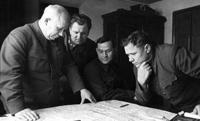 Никита Хрущев во время ВОВ