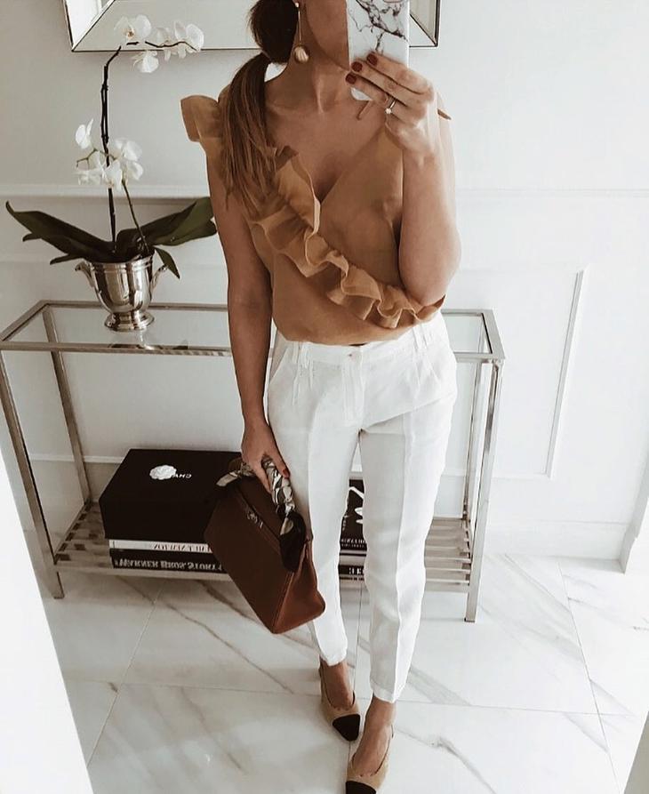 с чем носить брюки летом фото 7