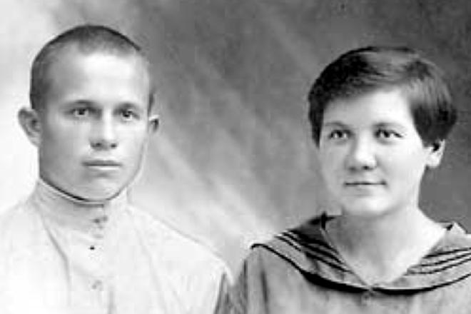 Никита Хрущев с первой женой