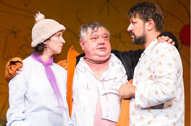 Олеся Железняк в спектакле «Вокзал на троих»