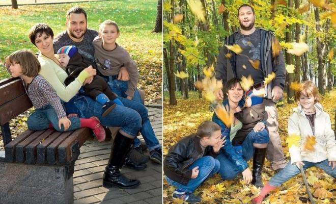 Олеся Железняк и ее семья