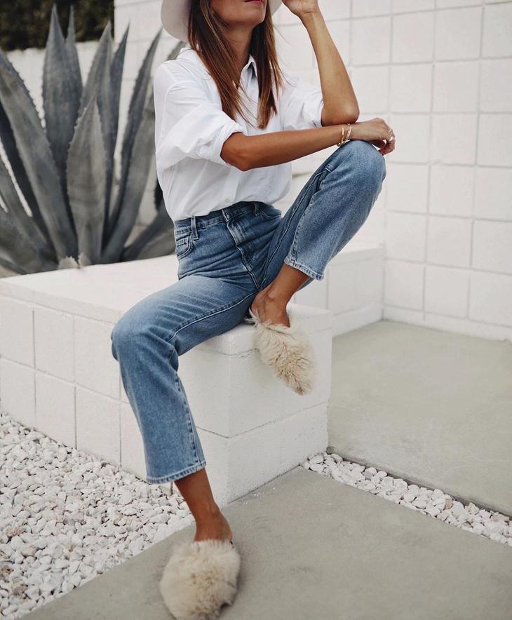 белая руба9ка с джинсами фото 1