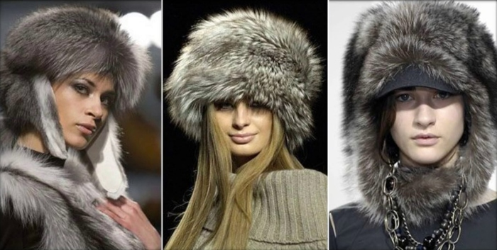 Тёплые пушистые шапки.